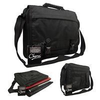 New Black Messenger Satchel Briefcase Travel Work College School Shoulder Bag