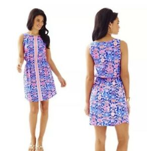 Excellent Lilly Pulitzer Windward Dress in Iris Blue Werk It Size Small
