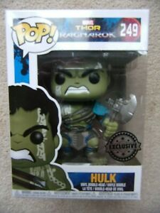 FUNKO POP! HULK with Axe from Thor Ragnarok Marvel  249  VINYL FIGURE Exclusive
