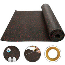 Rubber Flooring Rolls 3.6'x10.2' 9.5mm Exercise & Gym High Density Floor Mats