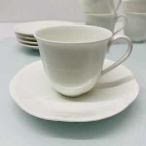 Villeroy & Boch Arco Weiß Kaffeetasse mit Untertasse, Kaffeegedeck 2 tlg