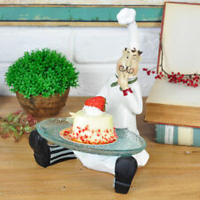 Kitchen Restaurant Chef Figurine Statue Sculpture Home Dining Food Fruits Dish