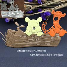 Tree Trunk Bear Tiger Metal Cutting Dies Stencil Scrapbook Card Embossing Craft
