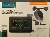 La Crosse Wi-Fi Wind & Weather Station Breeze Pro Sensor ios Android Compatible