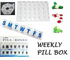 7day pills box medicine tablet dispenser organizer weekly storage case for am/pm