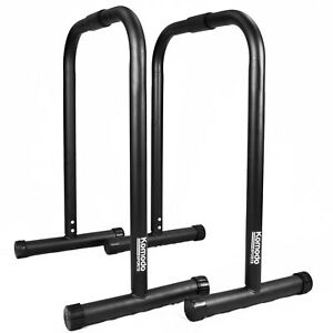 Parallel Dip Station Bars Home Gym Parallettes Workout Crossfit Calisthenics Set
