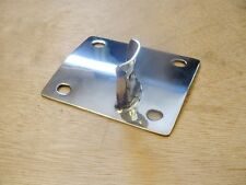 LAMBRETTA DUAL SEAT CATCHPLATE STAINLESS STEEL  -  BRAND NEW