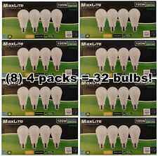 32 Pack MaxLite 100 Watt Equivalent 15W 2700K Soft White LED Light Bulb Dimmable