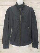 H&M Bomber Full Zip Jacket Sz XL Men Navy Blue Zippers