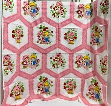 "New listing Vintage! Strawberry Shortcake Blueberry Pie fabric 1980 Pink- 44"" w. x 38"" l."