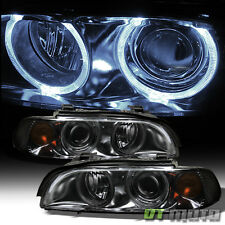Smoked 1997-2003 BMW E39 5-Series Halo Projector Headlights 525i 530i 528i 540i