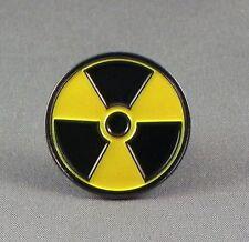 RADIOACTIVE - LAPEL PIN BADGE - NUCLEAR DANGER SIGN  (DB-47)