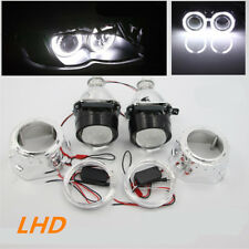 "2.5"" HID Bi-Xenon Projector Lens Headlight Tubular Angel Eye Halo for H1 H4 H7"