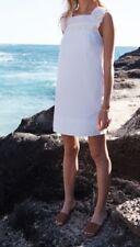 Madewell  Sundream Fringe Dress F3015 Size 12 $138 White NWT