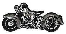 am89 Motorrad Grau Chopper Aufnäher Bügelbild Applikation Flicken Biker Bobber