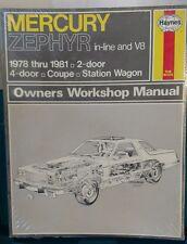 Haynes Ford Mercury Zephyr 1978-1981 in-line & V-8 Repair Manual