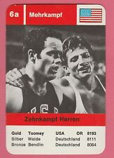 German Trade Card 1968 Olympics Decathlon Gold Medal Winner Bill Toomey USA