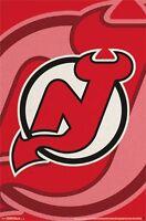NEW JERSEY DEVILS - LOGO POSTER - 22x34 NHL HOCKEY 13867