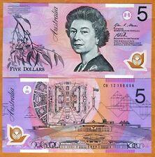 Australia, $5, 2012, Polymer, P-57g, QEII, UNC > New date and signature