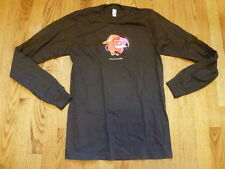 APPLE Be Un-PC T-SHIRT Brown Small tee iBook iMac Long Sleeve NEW NWOT American