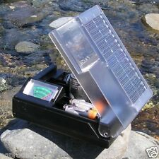 Solar Battery Charger w/Meter AA AAA C & D! USB Free 2 AA Rechargeable Batteries