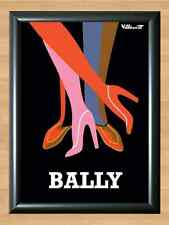 Bally Bernard Villemot French Shoes Retro Vintage Decor A4 Print Photo Poster