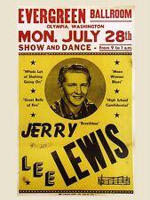 "Jerry Lee Lewis Washington 16"" x 12"" Photo Repro Concert Poster"