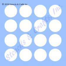 "1.75"" POLKA DOTS STENCIL CIRCLE CIRCLES DOT ART TEMPLATE CRAFT PAINT PATTERN NEW"