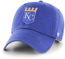huge discount 440b4 5c193 Kansas City Royals KC 47 BRAND MLB Strapback Adjustable Dad Cap Hat Clean up