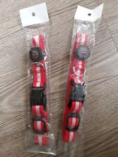 2 x FLASHING LIGHTS DOG COLLARS HIGH VISABILITY SIZE LABRADOR NEW IN PACKAGING.