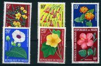 Niger MiNr 61-66 ** Pflanzen Niger MiNr. 61-66 postfrisch MNH Blumen (Blu294