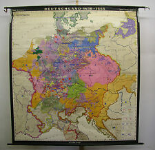Schulwandkarte muro mapa Alemania Germany 1438-1555 Reformation 196x208 1968
