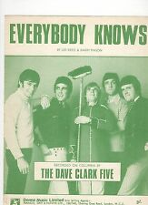 Dave Clark 5 (Five) Everybody Knows  UK  Sheet Music
