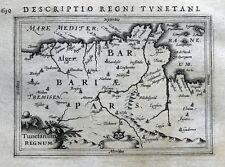 N. AFRICA, TUNISIA, ALGERIA, LIBYA, TUNIS,ALGER,ORAN, BERTIUS antique map 1618