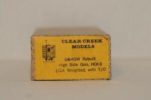 Clear Creek Models, HOn3, D&RGW Rebuilt High Side Gondola