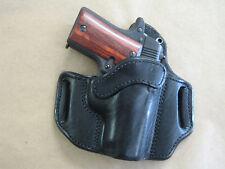 Colt Mustang .380 OWB Leather 2 Slot Molded Pancake Belt Holster CCW BLACK RH
