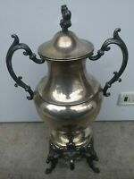ANTIQUE  SILVER ON COPPER SAMOVAR/COFFEE URN VINTAGE
