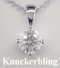 Not Enhanced Excellent IF Fine Diamond Necklaces & Pendants
