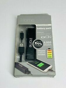 iHome Power Battery Pack Rechargeable Battery 2200 mAh iPhone Android iPod New!