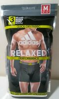 New Adidas Men's 3 Pack Performance Relaxed Boxer Briefs Underwears