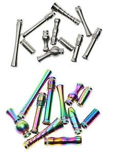 510er Drip Tips Long Pipe lange Edelstahl Mundstücke Silber Regenbogen Driptip