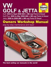 Haynes Workshop Manual 4610 Volkswagen VW Golf & Jetta Petrol Diesel 2004-2009