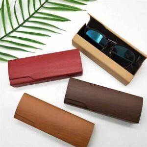 Fashionable Portable Eyeglasses Case Wood Grain Glasses Case Eyewear Protections