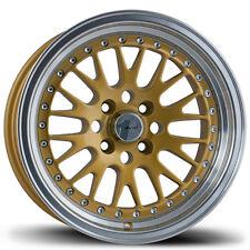 Avid1 AV12 15X8 Rim 4x100 +25 Gold Wheels Fits Carrado Del So Civic Crx Fit