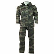 Arctic Storm Waterproof Rain Suit Hooded Jacket , Over Trousers Camouflage Set