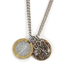 NEW French Franc with Sterling Silver Lock and Key Men's Necklace 11357