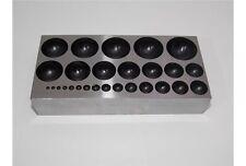 Bottoniera 27 semi sfere da 2 a 25 mm di diametro imbottitrice orafi oreficeria
