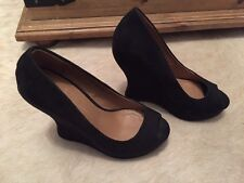 Primark Black Wedge Shoes Size