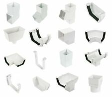 White Square Gutter and Gutter Down Pipe - White Square - Gutter Accessories
