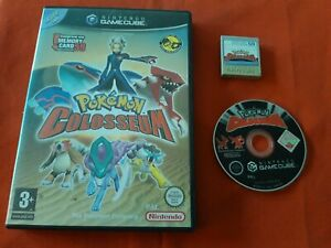 Pokemon Colosseum + Memory Card Official Nintendo Gamecube Gc Pal Boxed FR